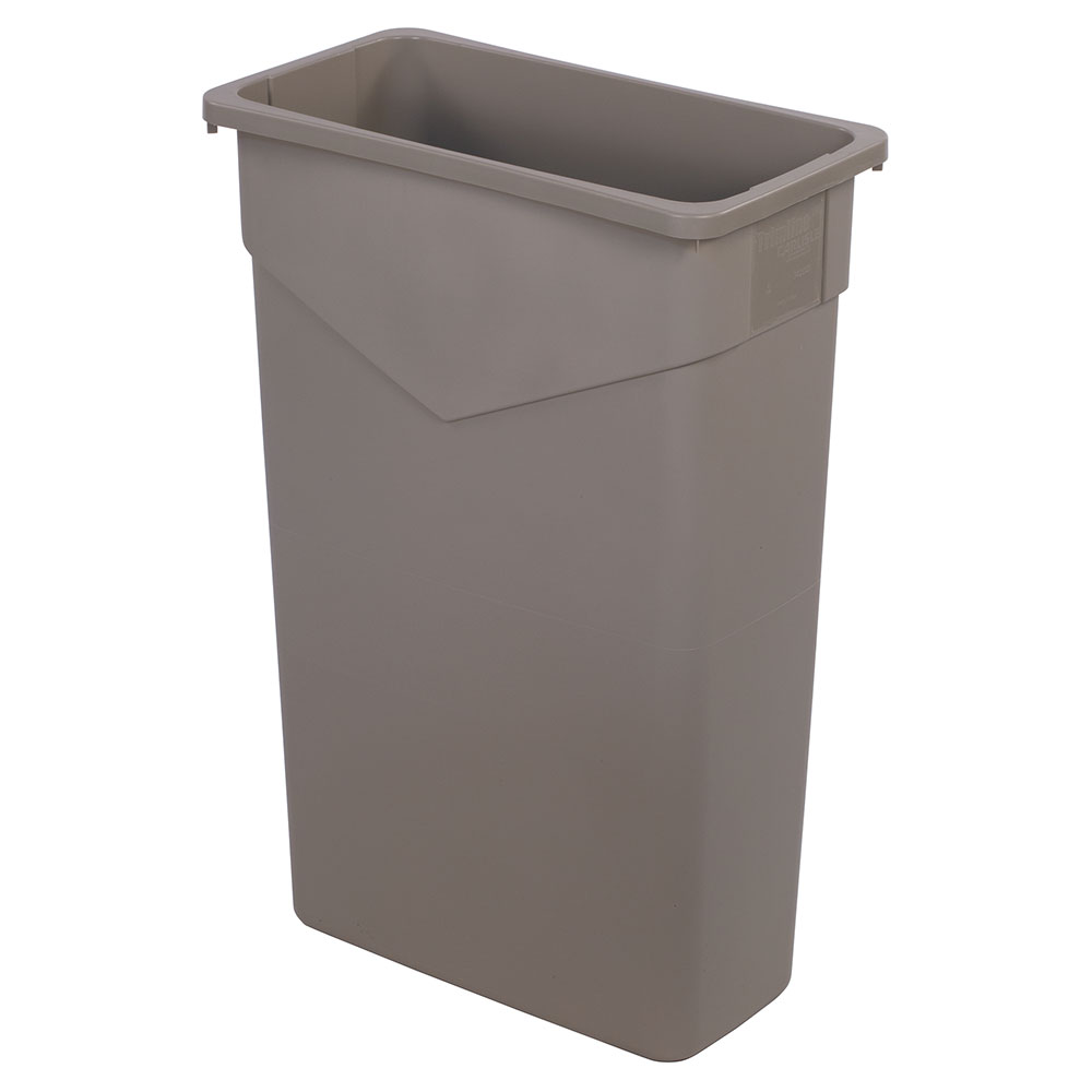 Carlisle 34202306 23-gallon Commercial Trash Can - Plastic, Rectangular, Built-in Handles