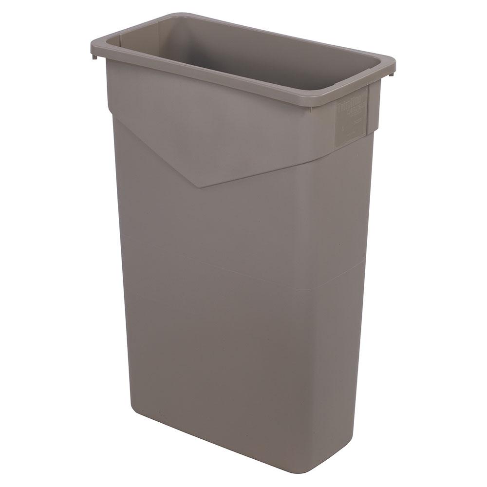 Carlisle 34202306 23 gallon commercial trash can plastic rectangular built in handles - Rectangular garbage cans ...