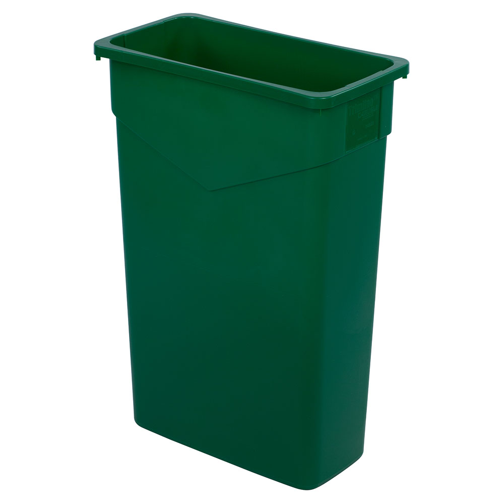 Carlisle 34202309 23-gal Rectangular Waste Container - Polyethylene, Green
