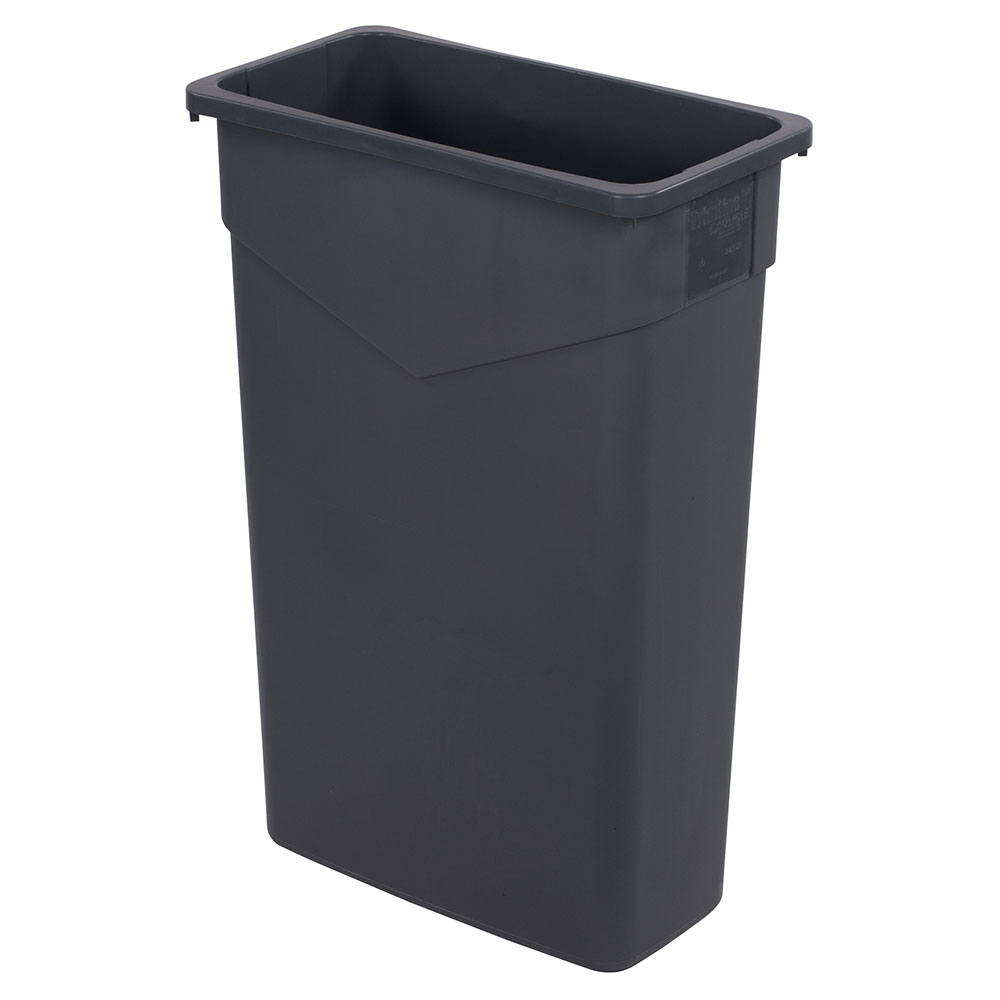 Carlisle 34202323 23-gallon Commercial Trash Can - Plastic, Rectangular, Built-in Handles