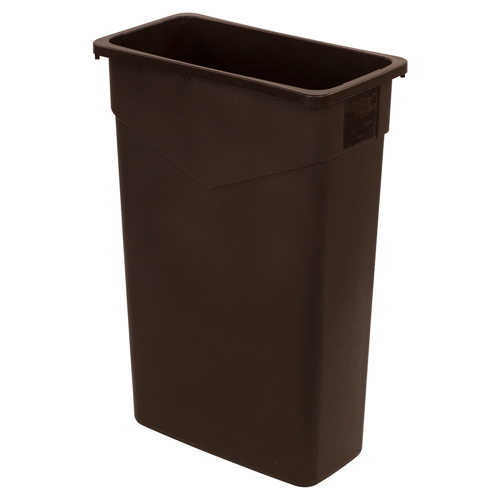 Carlisle 34202369 23-gallon Commercial Trash Can - Plastic, Rectangular, Built-in Handles