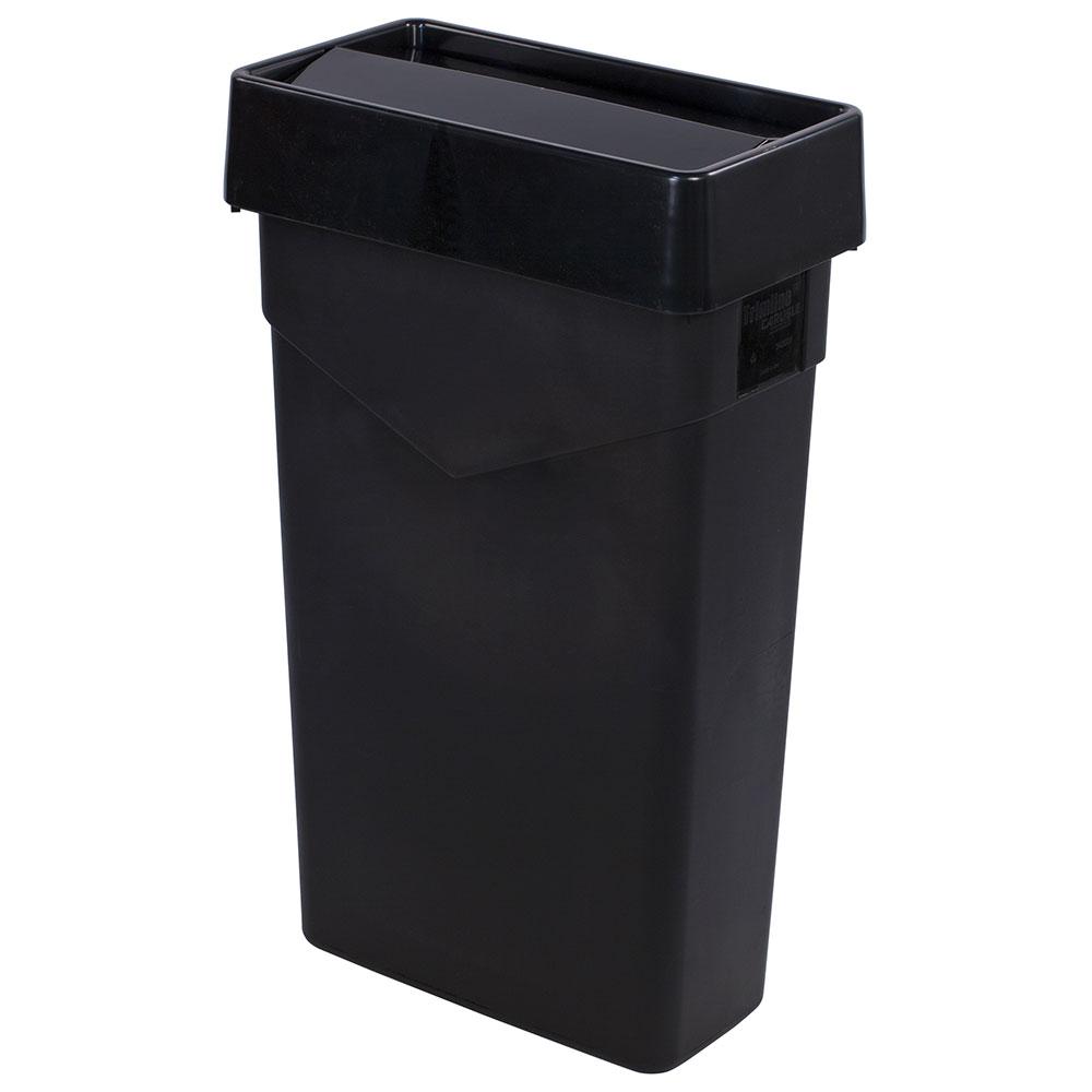 Carlisle 34202403 Rectangle Swing Top Trash Can Lid - Plastic, Black