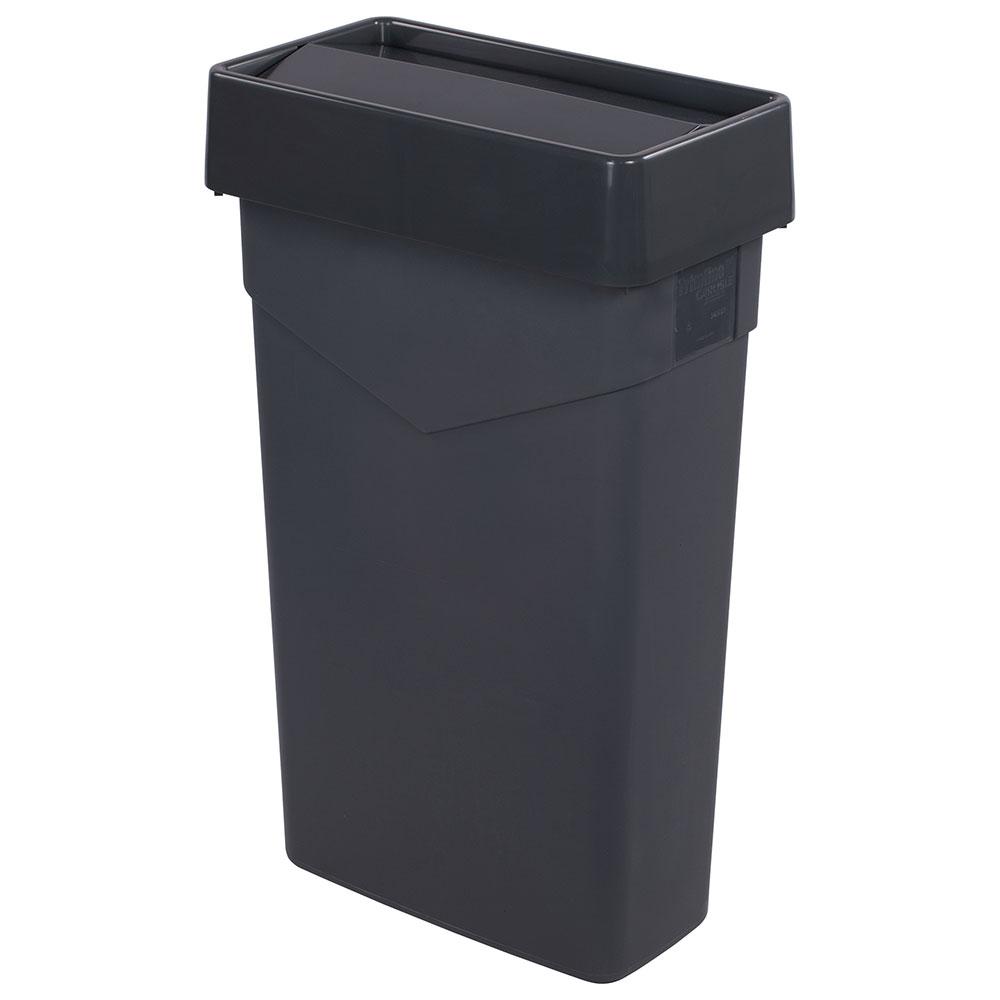 Carlisle 34202423 Rectangle Swing Top Trash Can Lid - Plastic, Gray