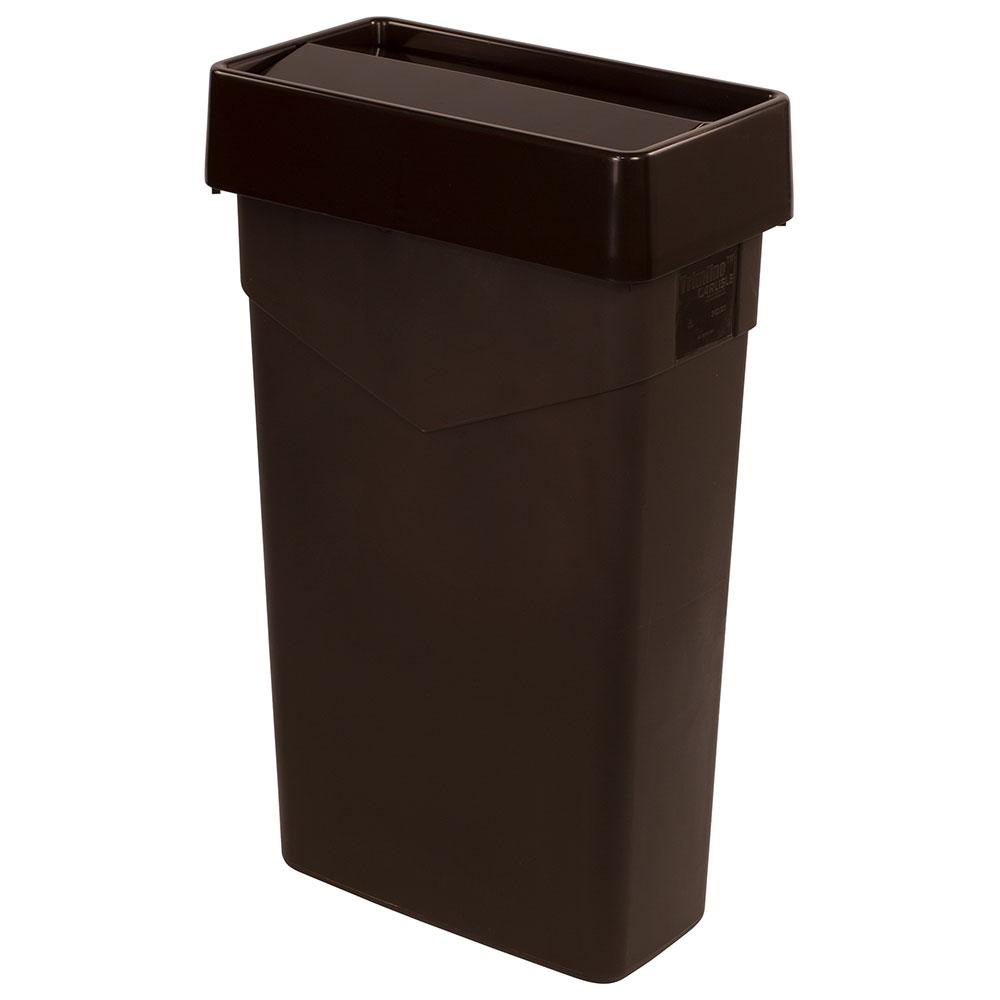 Carlisle 34202469 Rectangle Swing Top Trash Can Lid - Plastic, Brown