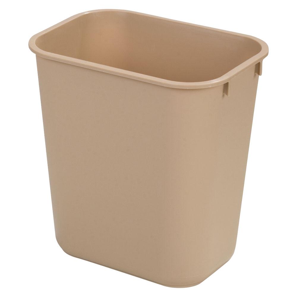 Carlisle 34291306 13-qt Office Wastebasket - Polypropylene, Beige