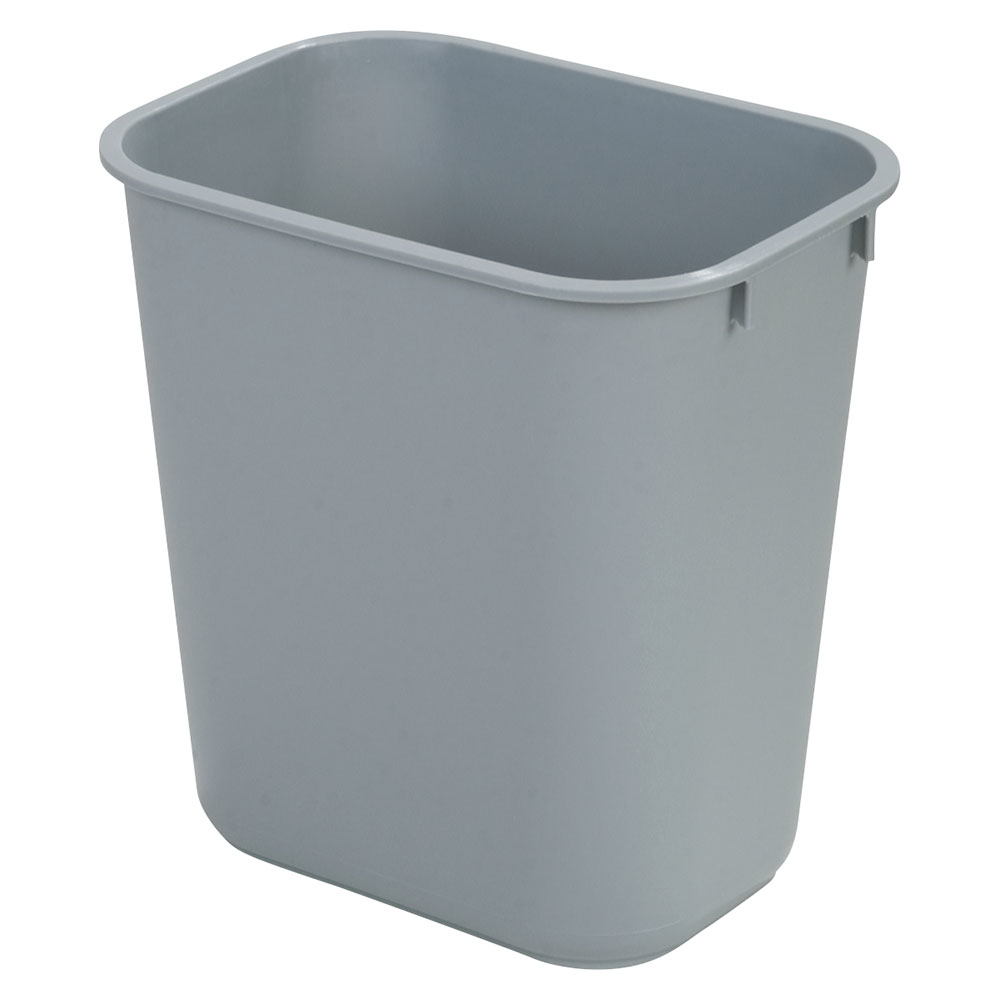 Carlisle 34291323 13-qt Office Wastebasket - Polypropylene, Gray