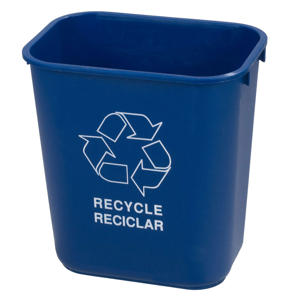 Carlisle 342928REC14 28-qt Recycle Wastebasket - Polypropylene, Blue