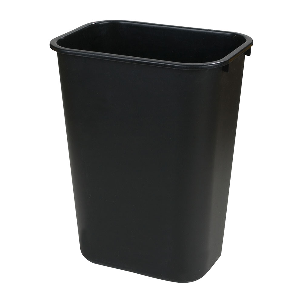Carlisle 34294103 41.25-qt Rectangle Waste Basket - Plastic, Black