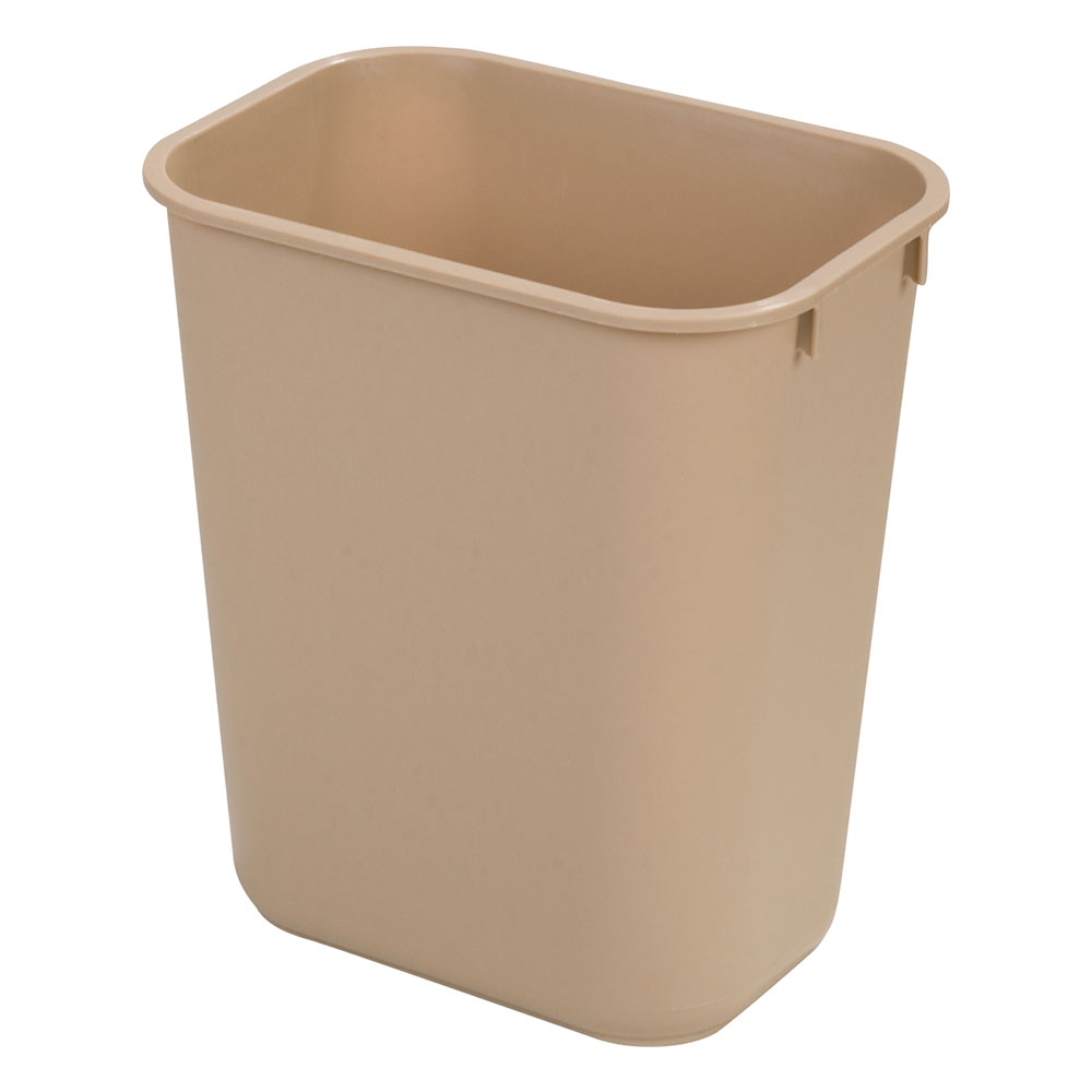 Carlisle 34294106 41.25-qt Rectangle Waste Basket - Plastic, Beige