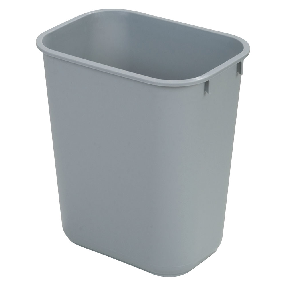 Carlisle 34294123 41-1/4-qt Office Wastebasket - Polypropylene, Gray