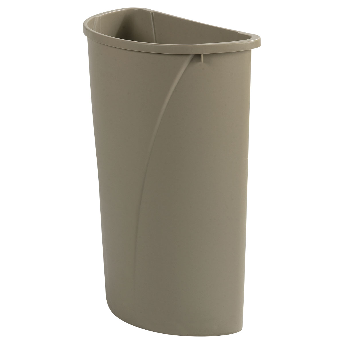 Carlisle 34302106 21-gallon Commercial Trash Can - Plastic, Half Round, Built-in Handles
