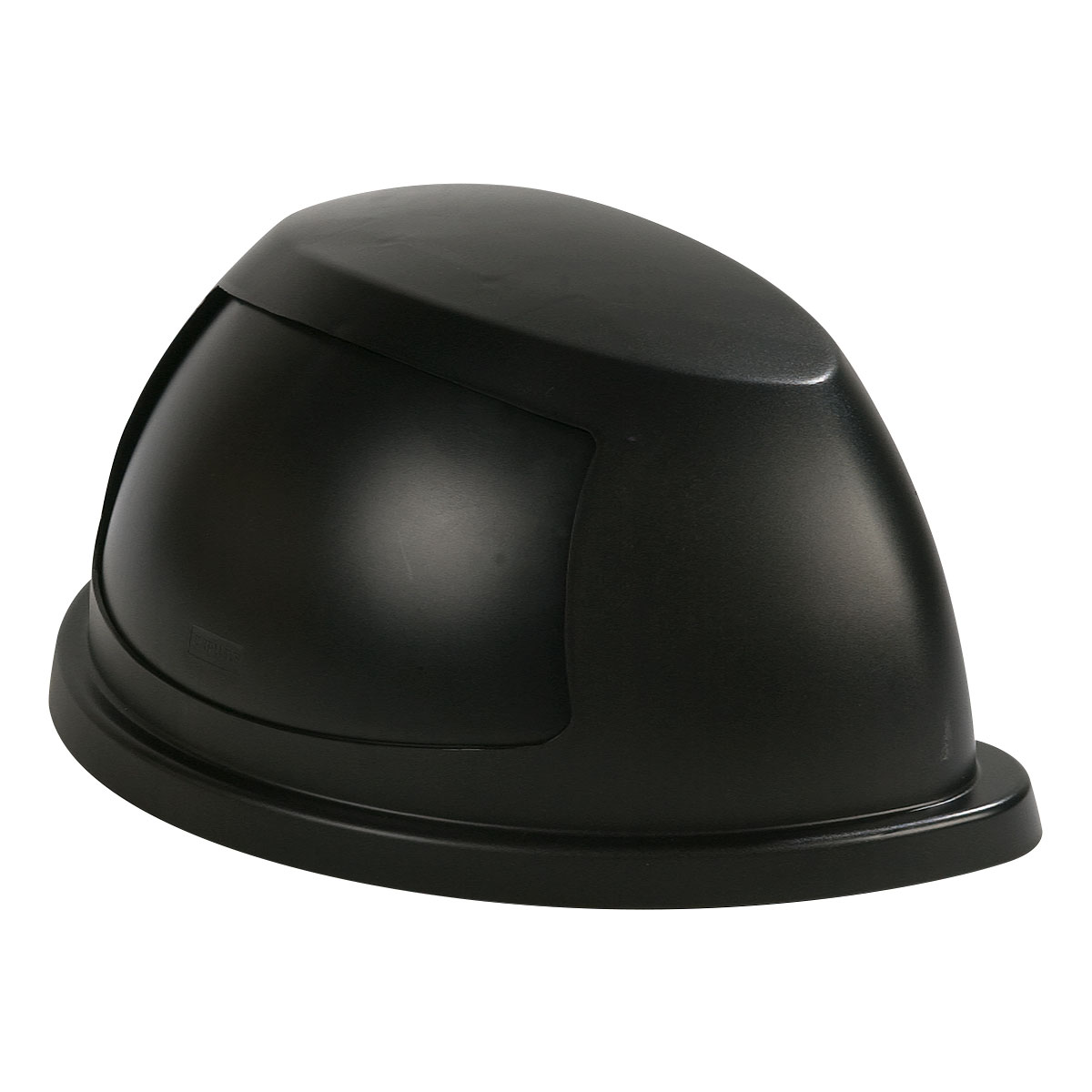 Carlisle 343022-03 Half Round Dome Trash Can Lid - Plastic, Black