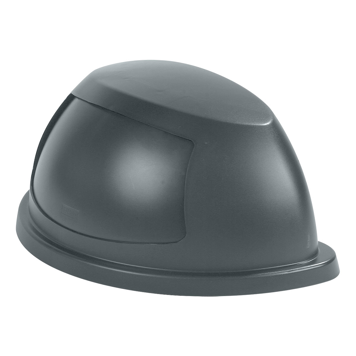 Carlisle 343022-23 21-gal Waste Container Dome Lid - Swing Flap Door, Polyethylene, Gray