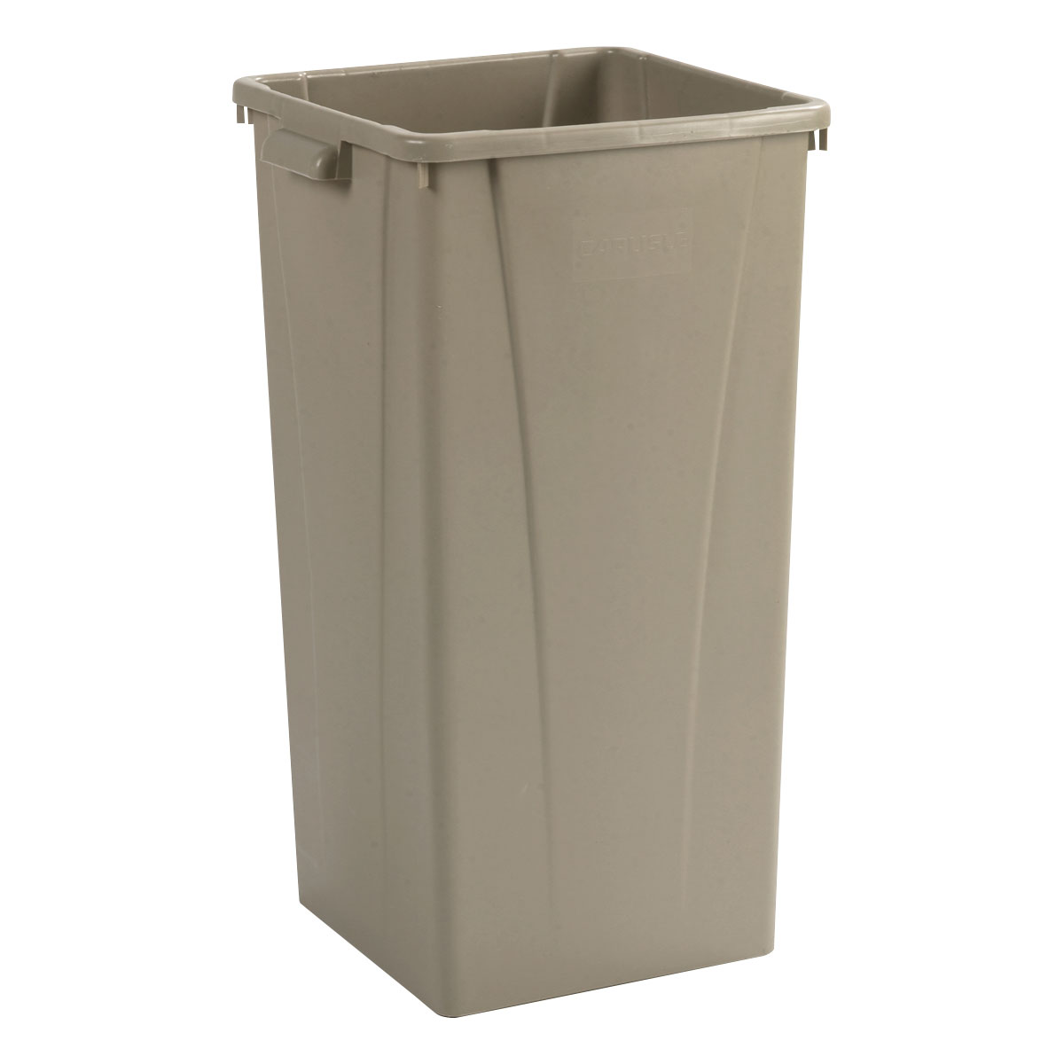 Carlisle 34352306 23-gallon Commercial Trash Can - Plastic, Square, Built-in Handles