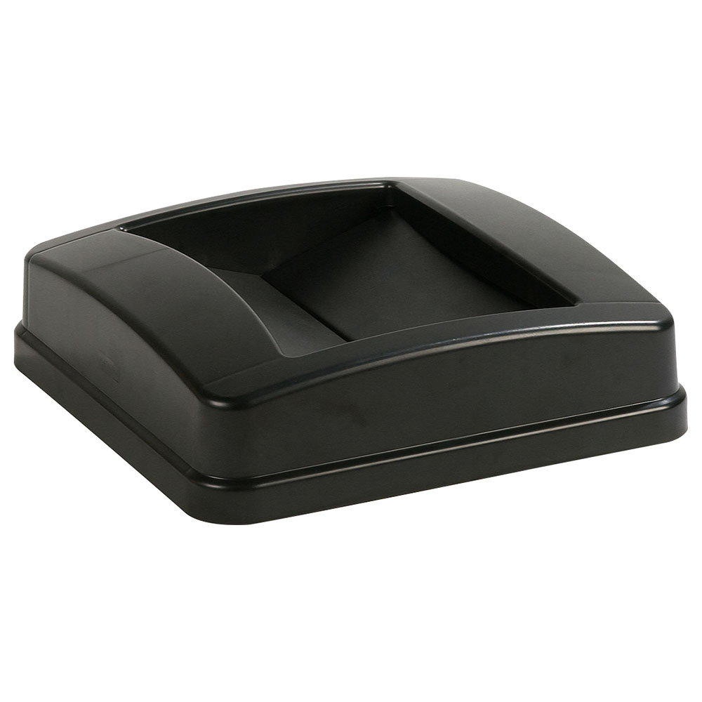 Carlisle 343525-03 23-gal Square Swing Top Lid - Polyethylene, Black