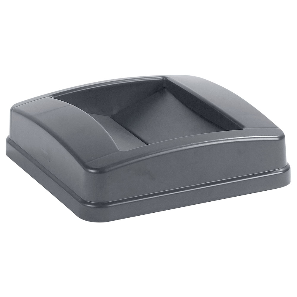 Carlisle 343525-23 Square Swing Top Trash Can Lid - Plastic, Gray