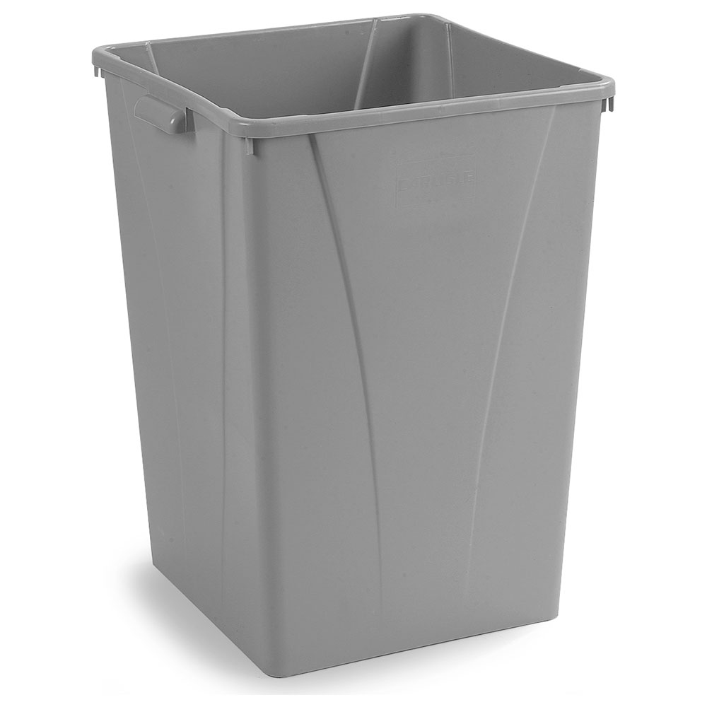 Carlisle 34393523 35-gallon Commercial Trash Can - Plastic, Square, Built-in Handles