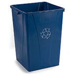 Carlisle 343935REC-14 Square 35-Gallon Recycle Container, Poly Blue