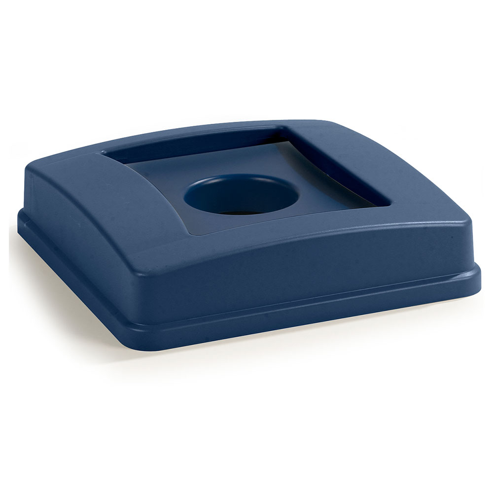 Carlisle 343936REC-14 35/50-gal Bottle/Can Recycle Container Lid - Polyethylene, Blue