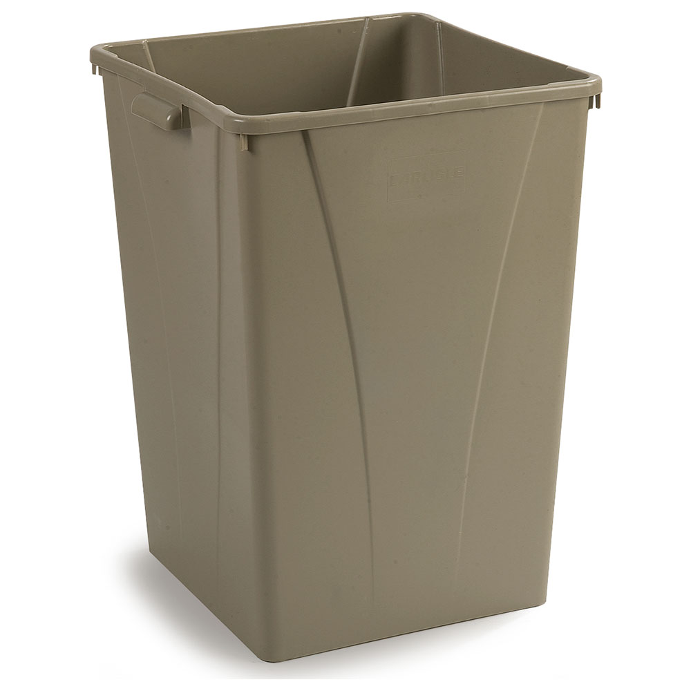 Carlisle 34395006 50-gallon Commercial Trash Can - Plastic ...