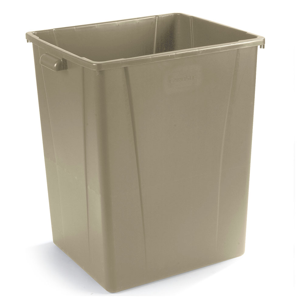 Carlisle 34405606 56-gallon Commercial Trash Can - Plastic, Square