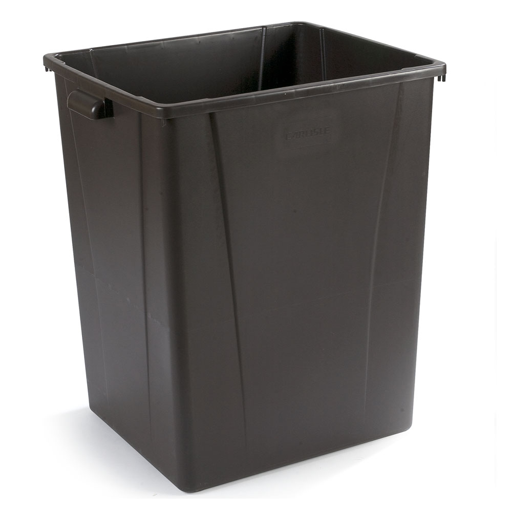 Carlisle 34405669 56-gallon Commercial Trash Can - Plastic, Square
