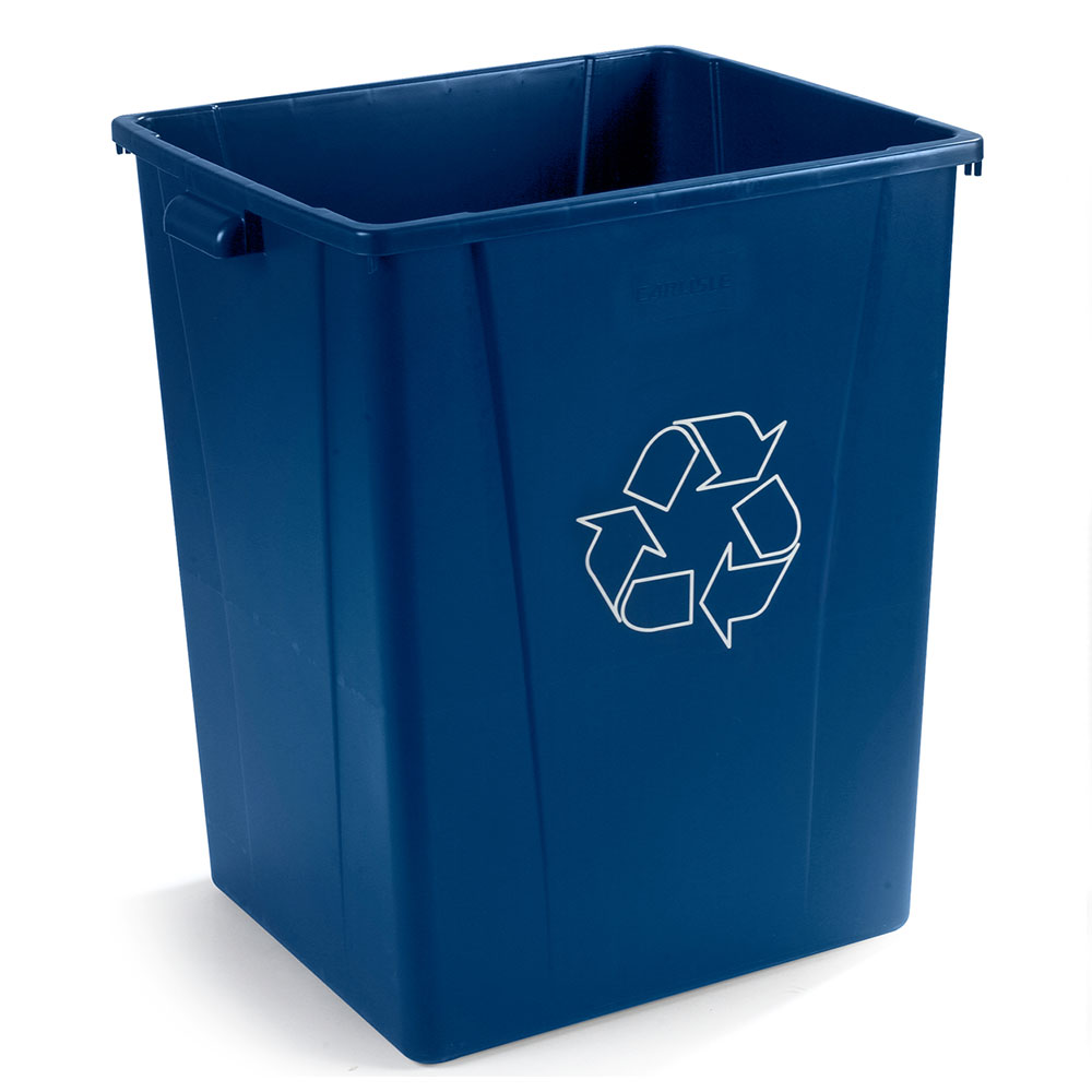 Carlisle 344056REC-14 56-gal Multiple Materials Recycle Bin - Indoor