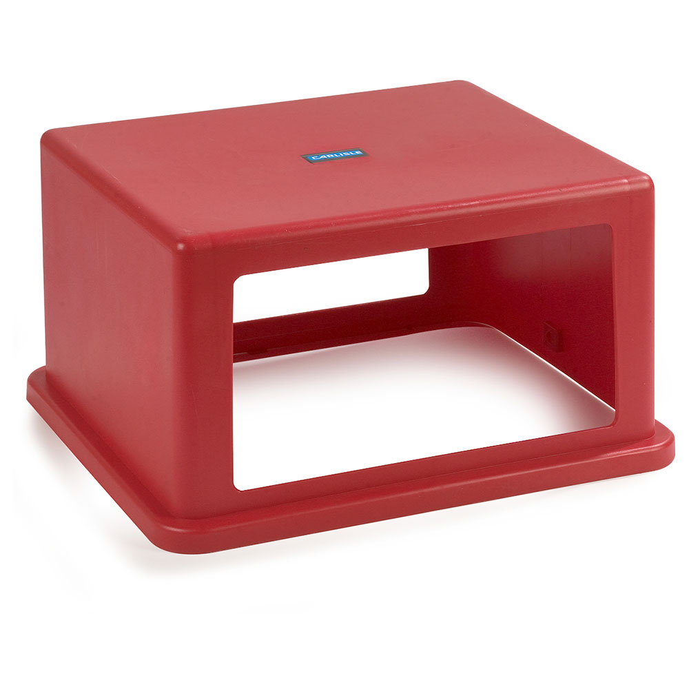 Carlisle 344057-05 56-gal Square Waste Container Hood Lid - Polyethylene, Red