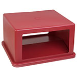 Carlisle 344058-05 Waste Container Hood Lid w/ Doors, 56-Gallon, Square, Red