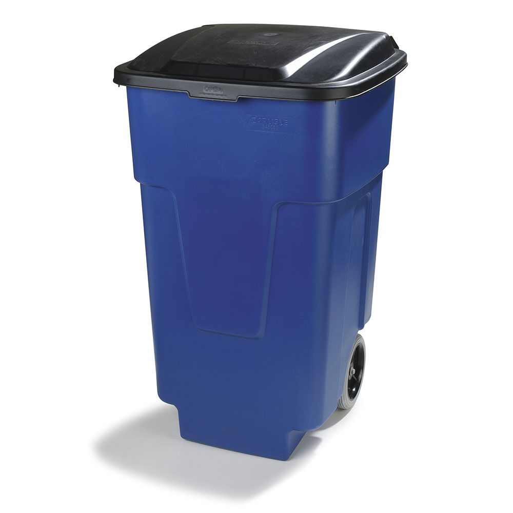 Carlisle 34505014 50-gal Multiple Materials Recycle Bin - Indoor, Wheels