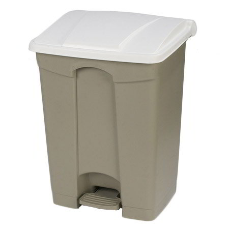 Carlisle 34614502 18-gal Step-On Waste Container - Polypropylene, Beige/White