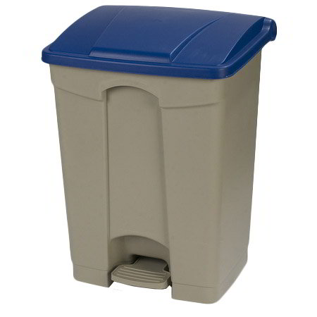 Carlisle 34614514 18-gal Step-On Waste Container - Polypropylene, Beige/Blue