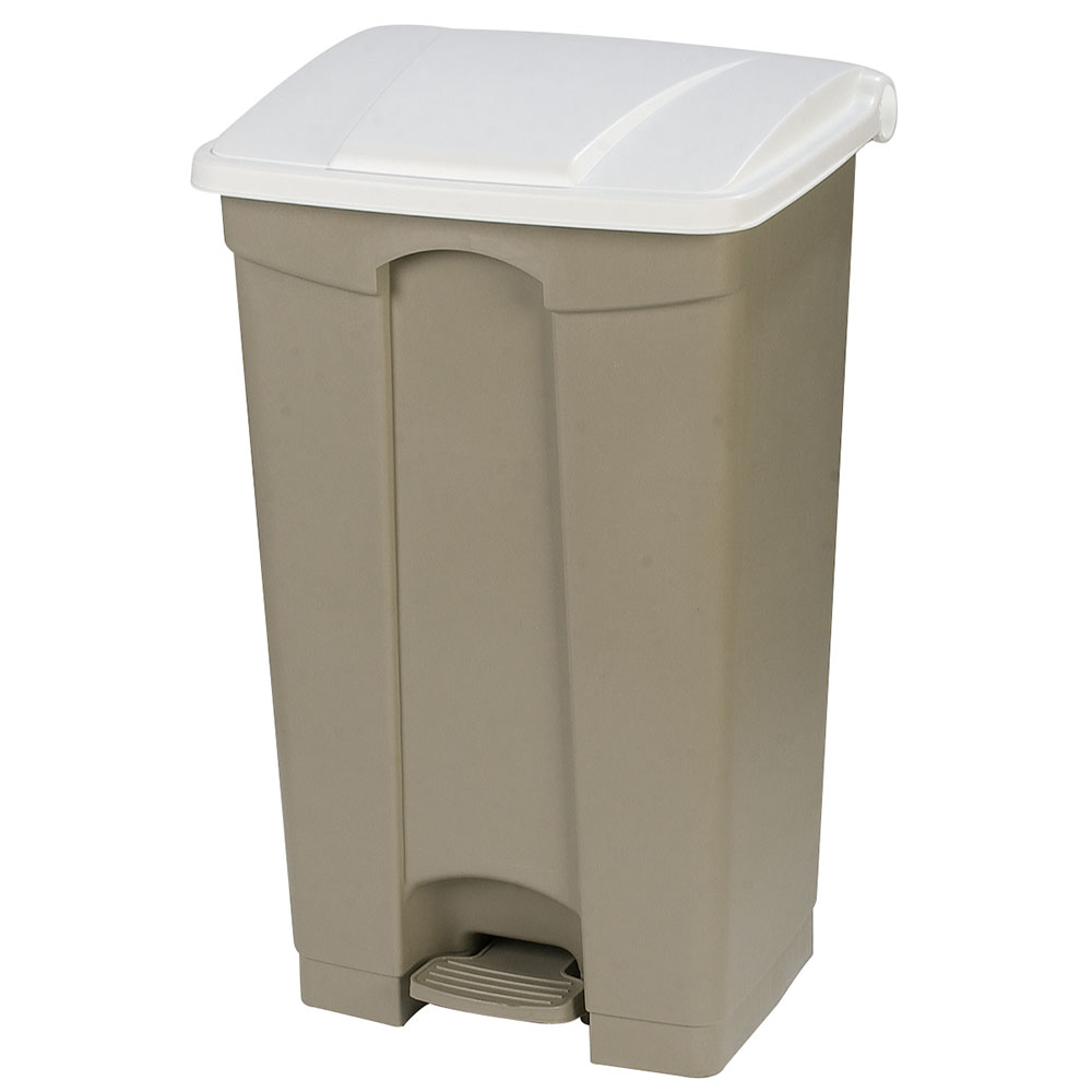 Carlisle 34614602 23-gal Step-On Waste Container - Polypropylene, Beige/White