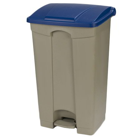 "Carlisle 34614614 23-gal Rectangle Plastic Step Trash Can, 19.69""L x 16.14""W x 32.28""H, Beige"
