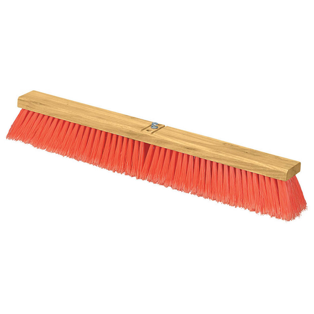 "Carlisle 3610223624 36"" Floor Sweep - Fine/Medium Block, Hardwood Block, 3"" Orange Poly Bristles"
