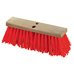 "Carlisle 36111824 18"" Street Sweep - Heavy, Hardwood Block, 5-1/8"" Orange Poly Bristles"