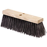 "Carlisle 3611301601 16"" Street Sweep Head - Hardwood Block, 5-1/8"" Crimped Bristles, Poly, Brown"