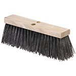 "Carlisle 3611302401 24"" Street Sweep Head - Hardwood Block, 5-1/8"" Crimped Bristles, Poly, Brown"