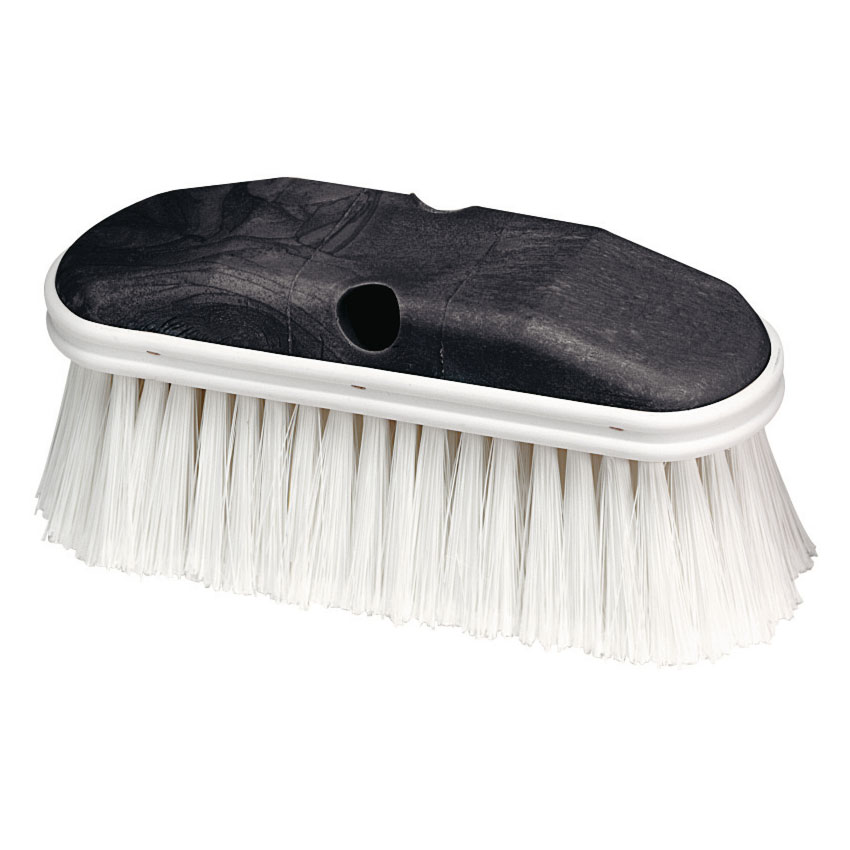 "Carlisle 36120902 9"" Vehicle Wash Brush - Poly/Plastic, White"