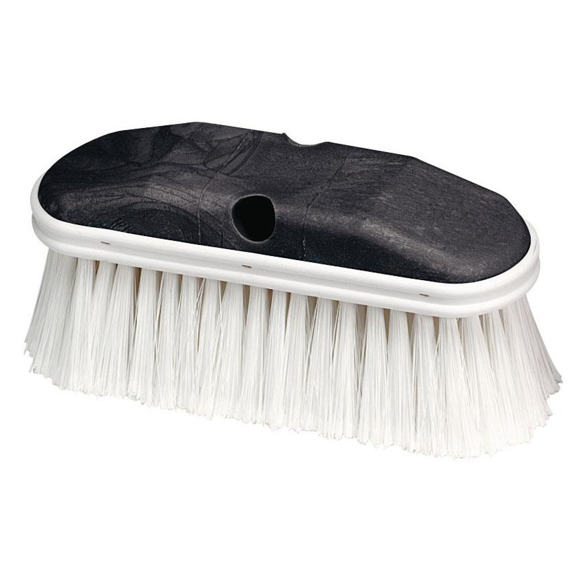 """Carlisle 36120902 9"""" Vehicle Wash Brush - Poly/Plastic, White"""