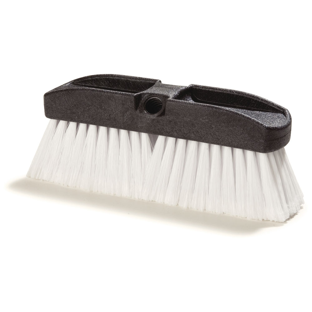 "Carlisle 36125202 10"" Vehicle Wash Brush - Poly/Plastic, White"
