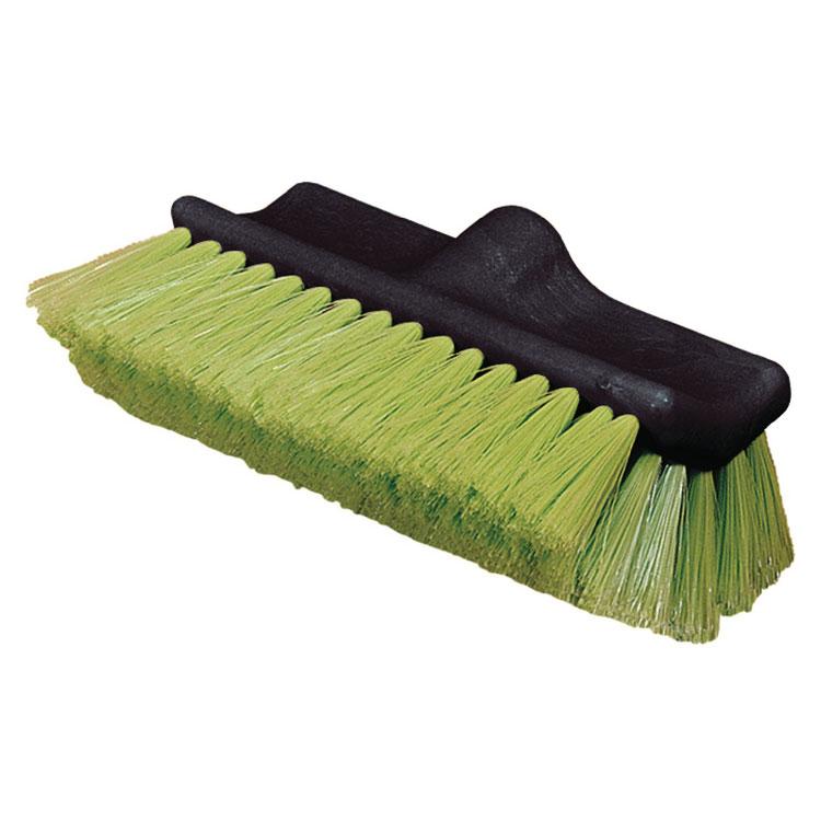 "Carlisle 36129775 10"" Flo-Thru Vehicle Wash Brush - Nylex/Plastic, Green"