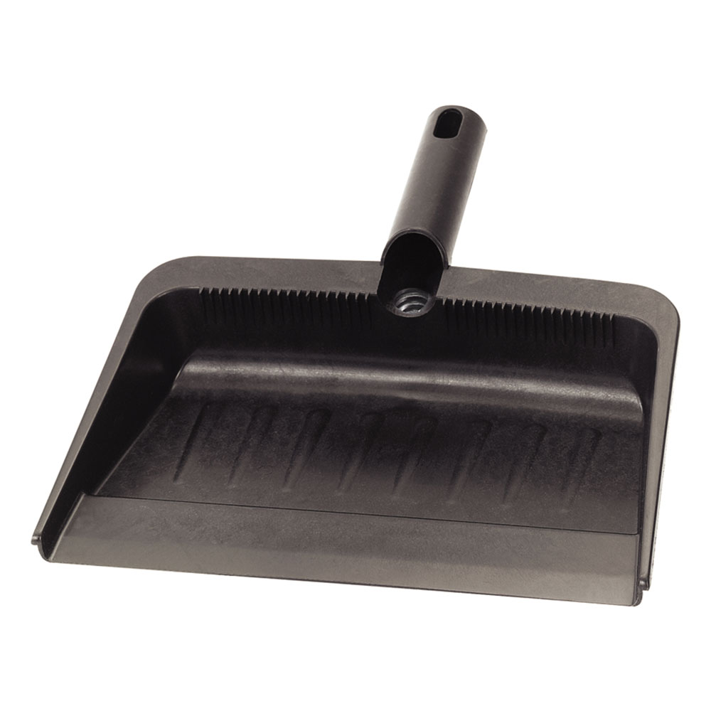 "Carlisle 36143703 12"" Dust Pan - Flexible, Black"