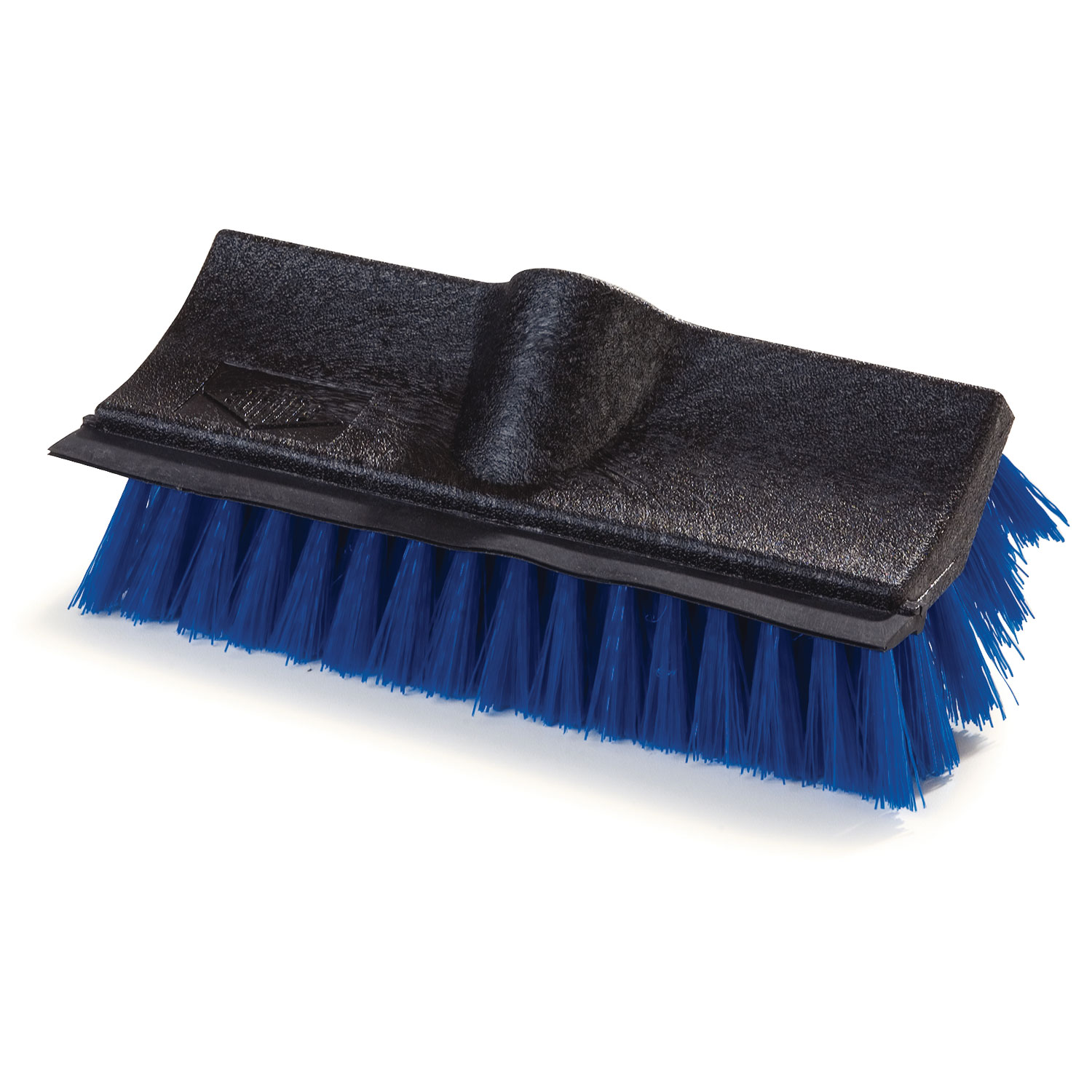 "Carlisle 3619014 10"" Dual Surface Floor Scrub Brush Head - Squeegee, Poly/Plastic, Blue"