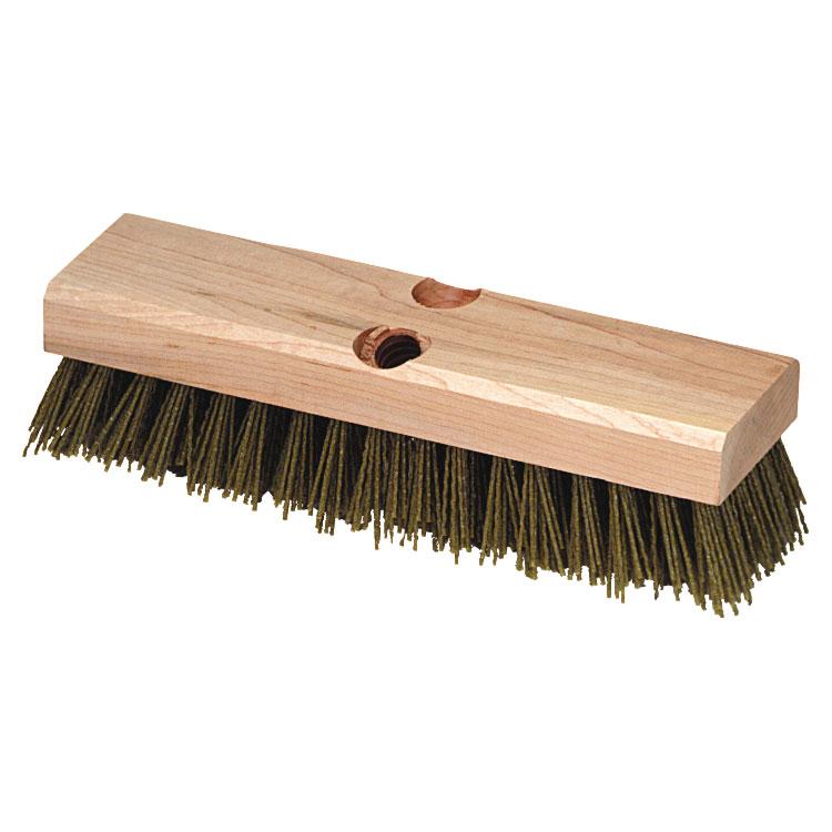 "Carlisle 3619100 10"" Baseboard Scrub Brush - Nylon/Hardwood, Black"