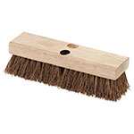 "Carlisle 3619200 10"" Deck Scrub Brush Head - Palmyra/Hardwood"