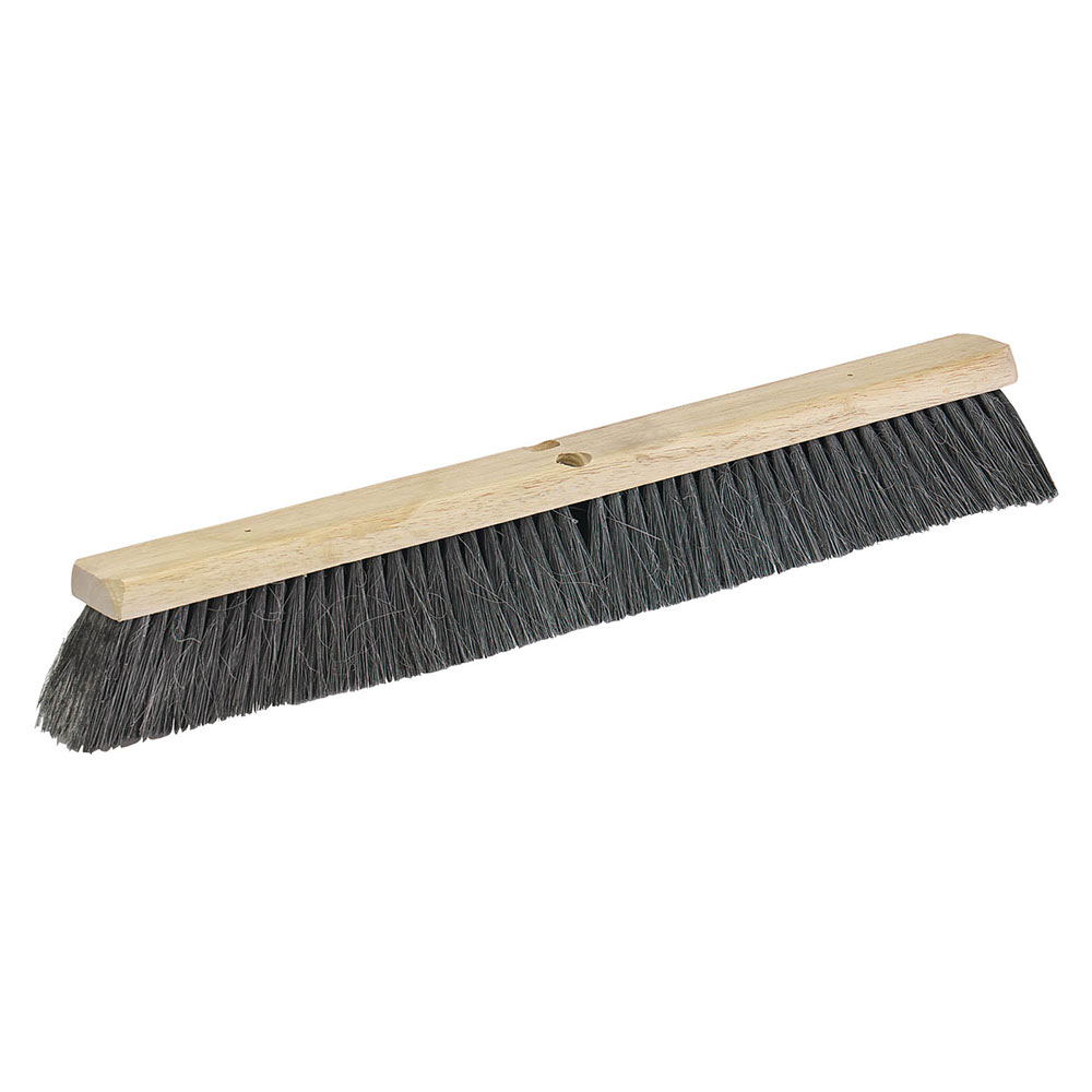 "Carlisle 36201803 18"" Floor Sweep - Fine/Medium, Hardwood Block, 3"" Horsehair/Poly Bristles"