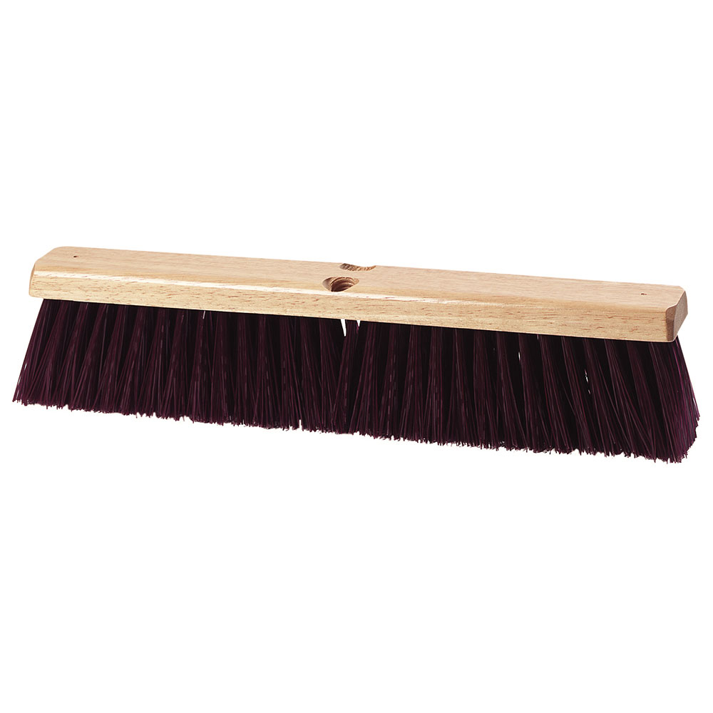 "Carlisle 3621933600 36"" Basic Sweep - Crimped Polypropylene, Maroon"