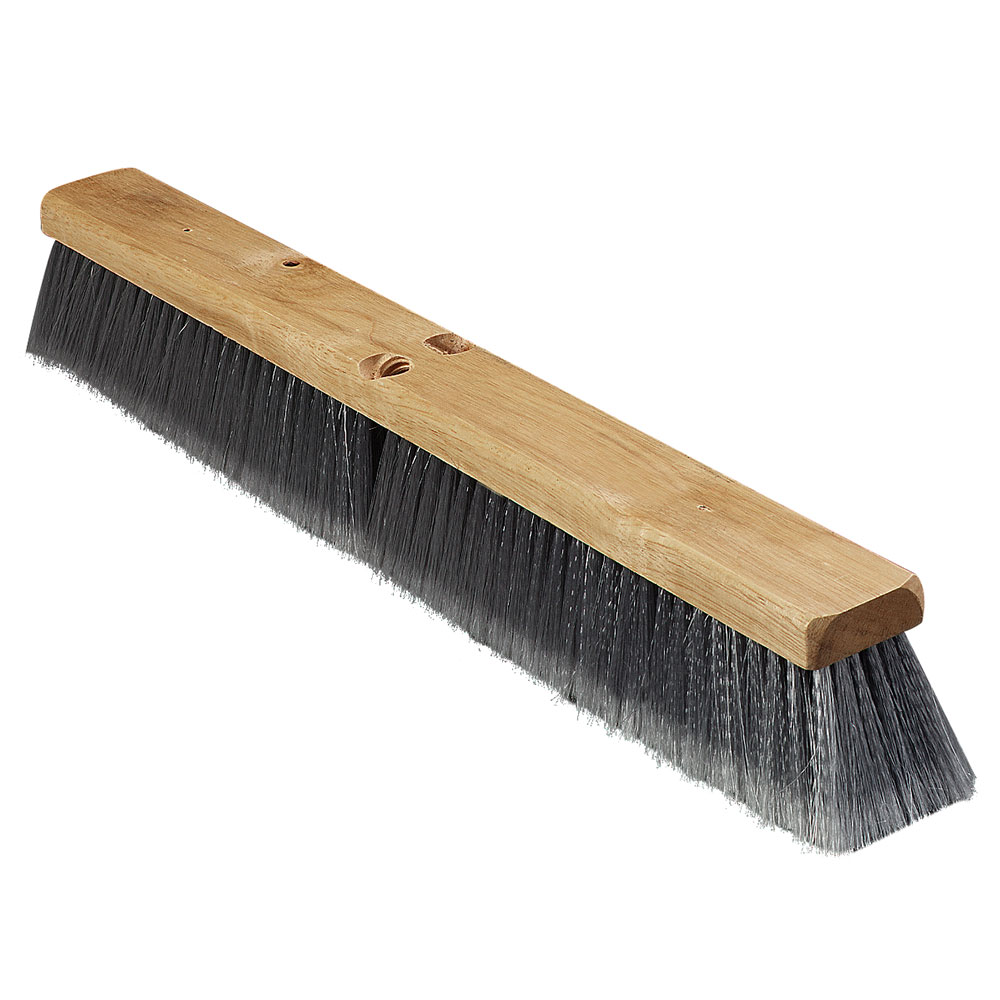 "Carlisle 3621952423 24"" Basic Sweep Floor Brush - Palmyra/Tampico, Gray"
