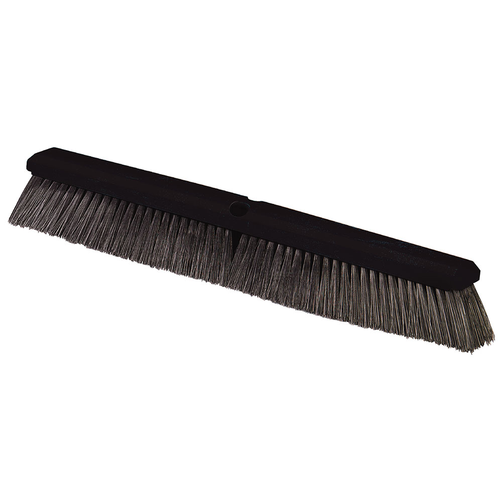 "Carlisle 362208P2403 24"" Floor Sweep Head - Fine/Medium, Foam Block, Black Poly Bristles"